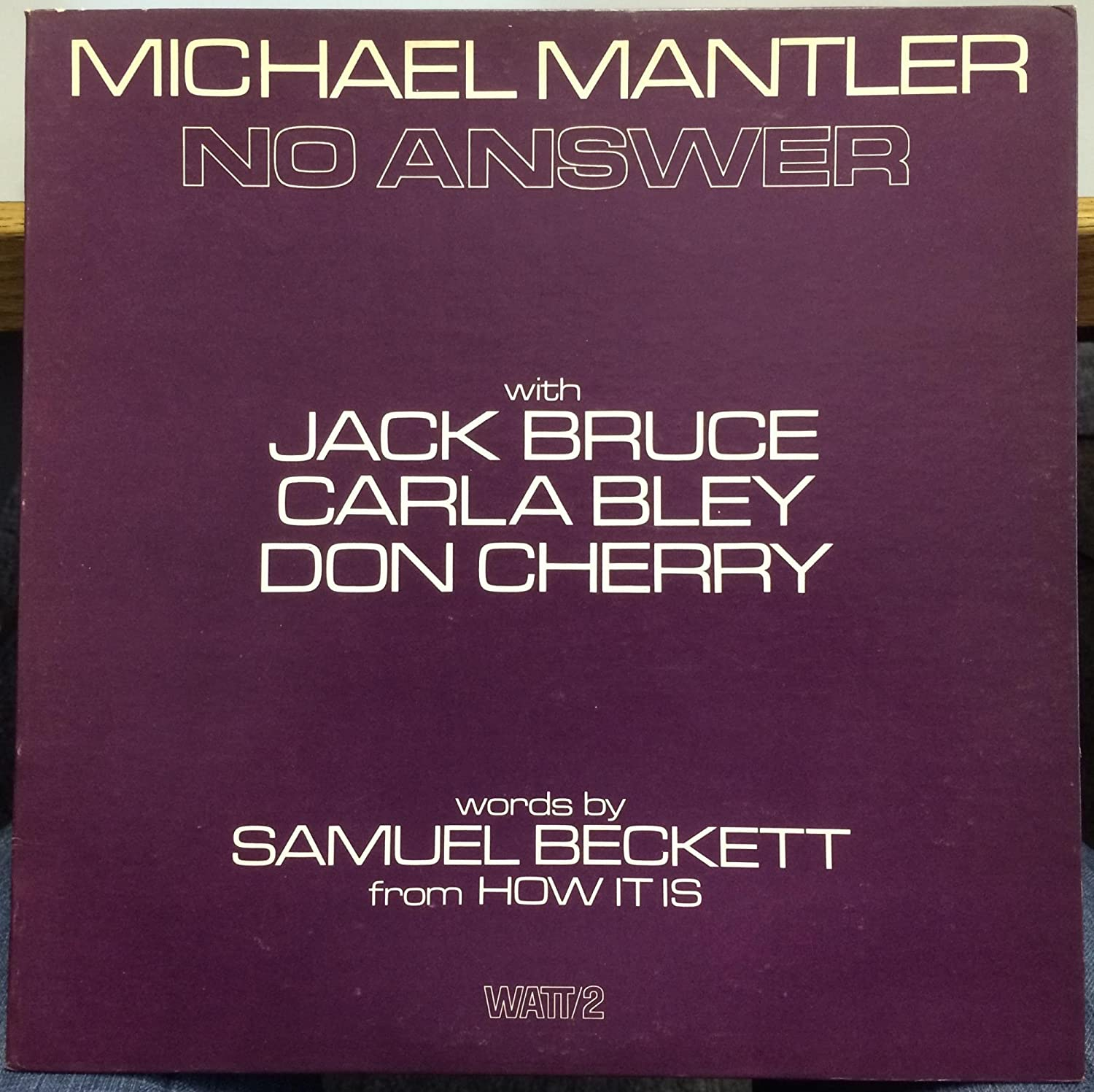Image for Michael Mantler No Answer vinyl record