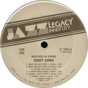 Image for Brother In Swing