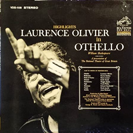 Image for Lawrence Olivier in Othello By William Shakespeare / a Presentation of the National Theatre of Great Britain