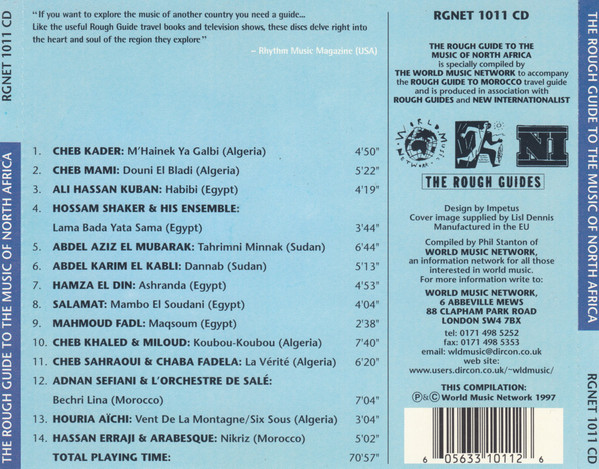 Image for Rough Guide to North African Music