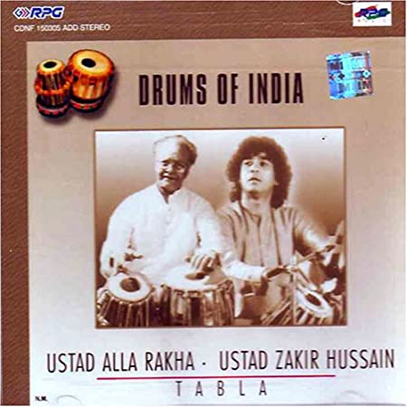 Image for Drums of India-Ustad Alla Rakha and Ustad Zakir Hussain Tabla (Cd/Indian Clasiccal Music/Classical Instrumental/Tabla)