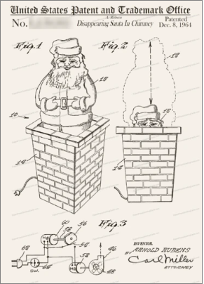 Image for Disappearing Santa in Chimney: Greeting Card